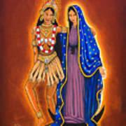 Kali And The Virgin Art Print