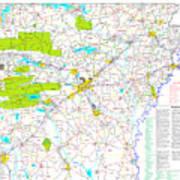 Kamkam Arkansas Highway Map  Art Print
