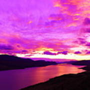 Kamloops Lake At Dawn Art Print