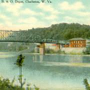 Kanawha Bridge Art Print