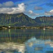 Kaneohe Bay Oahu Hawaii Art Print
