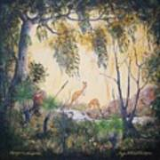 Kangaroo Kingdom Art Print
