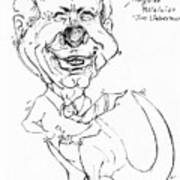 Kangaroo Politician Joe Lieberman Art Print