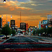 Kansas City Evening Art Print
