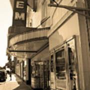 Kansas City - Gem Theater Sepia 2 Art Print