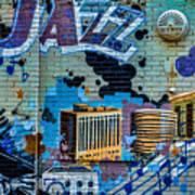 Kansas City Jazz Mural Art Print