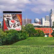 Kansas City Sky Line Art Print