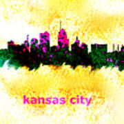 Kansas City Skyline 1 Art Print