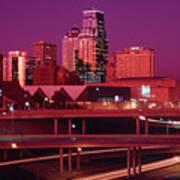 Kansas City Skyline 1991 Art Print
