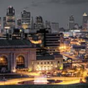 Kansas City Skyline Art Print by Ryan Heffron