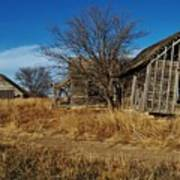 Kansas Farmhouse And Barn Art Print