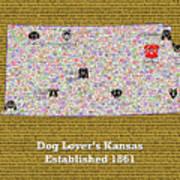 Kansas Loves Dogs Art Print
