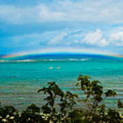 Kapalua Bay Rainbow Art Print