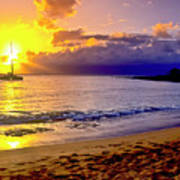 Kapalua Bay Sunset Art Print