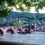 Karl Theodor Bridge And Heidelberg Castle  Art Print
