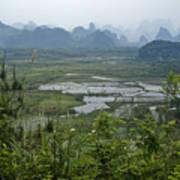 Karst Landscape Of Guangxi Art Print
