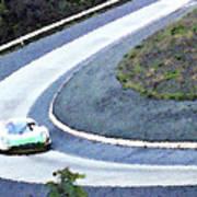 Karussell Porsche Art Print