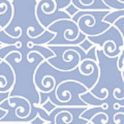 Kasbah Blue Arabesque Art Print