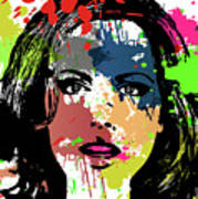 Kate Beckinsale Pop Art Art Print