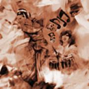 Kathak Dance On Tabla  Art Print