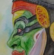 Kathakali Dancer Art Print