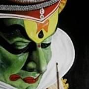kATHAKALI PAINTING REALISTIC Art Print