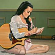Katy Perry Painting Art Print