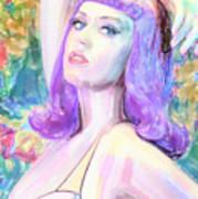Katy Perry Watercolor, Art Print