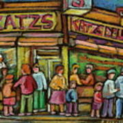 Katzs Delicatessan New York Art Print