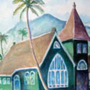 Kauai Church Art Print