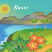 Kauai Hawaii Horizontal Scene Art Print