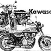 Kawasaki 900 Art Print