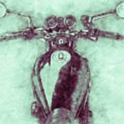 Kawasaki Z1 - Kawasaki Motorcycles 3 - 1972 - Motorcycle Poster - Automotive Art Art Print