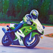 Kawasaki Zx7 - In The Groove  Art Print