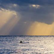 Kayak At Dawn Art Print