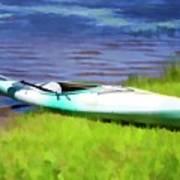 Kayak In Upstate Ny Art Print