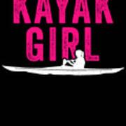 Kayak Kayak Girl Pink Gift Light Art Print