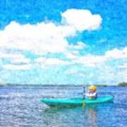 Kayak Lesson Art Print