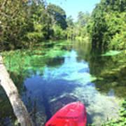Kayak On Weeki Wachee Springs Art Print