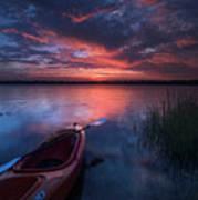 Kayak Sunrise Art Print