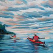 Kayakers Art Print