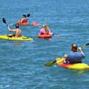 Kayaking Friends Art Print