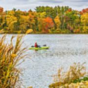 Kayaking In Fall Art Print