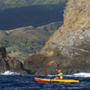 Kayaking In Molokai Art Print
