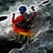Kayaking In The Zone 3 Art Print