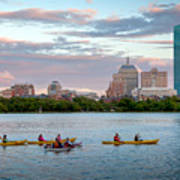 Kayaking On The Charles Art Print