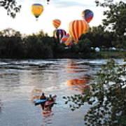 Kayaks And Balloons Art Print