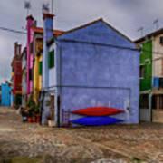 Kayaks On Burano Venice_dsc5681_03072017 Art Print