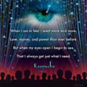 Kaypacha's Mantra 11.11.2015 Art Print