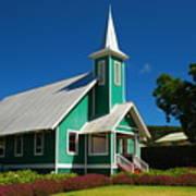 Ke Ola Mau Loa Church - Waimea Art Print